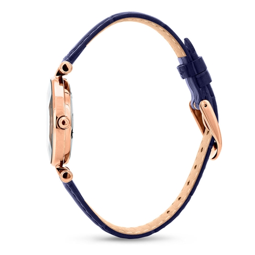 Chic & Sleek Μικρή Κάσα Δερμάτινο Ρολόι-