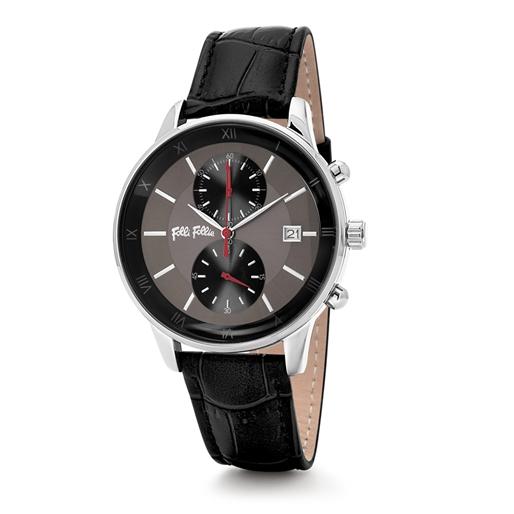 Big Moments Big Case Leather Watch -