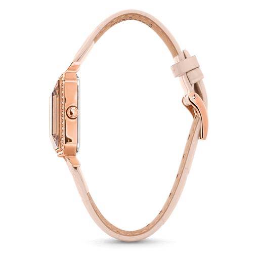 Style Prisma Ορθογώνια Κάσα Δερμάτινο Ρολόι-