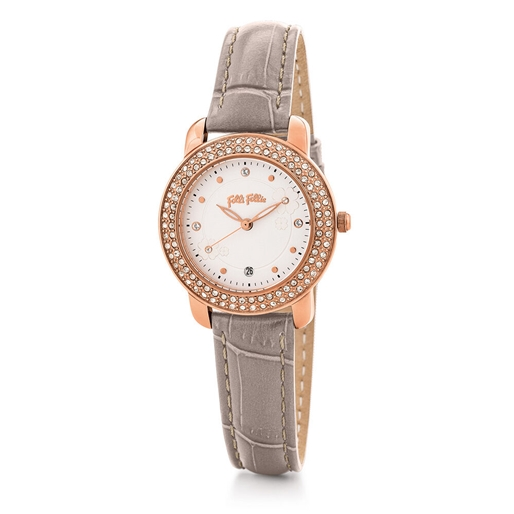 H4H Floral Small Case Leather Watch-