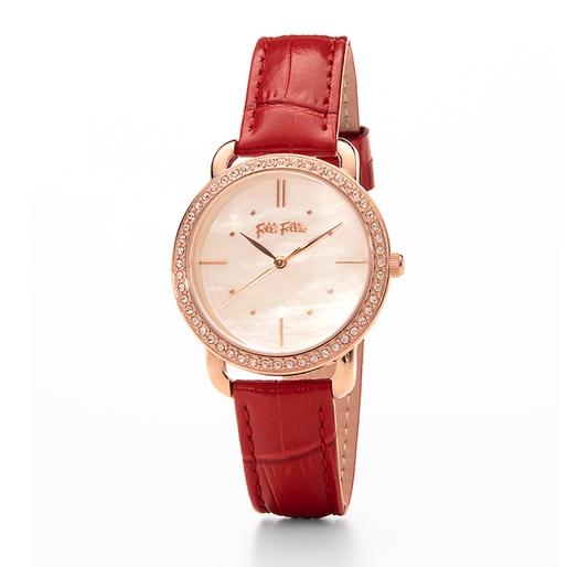Daylight Medium Case Leather Watch-Daylight Μεσαία Κάσα Δερμάτινο Ρολόι