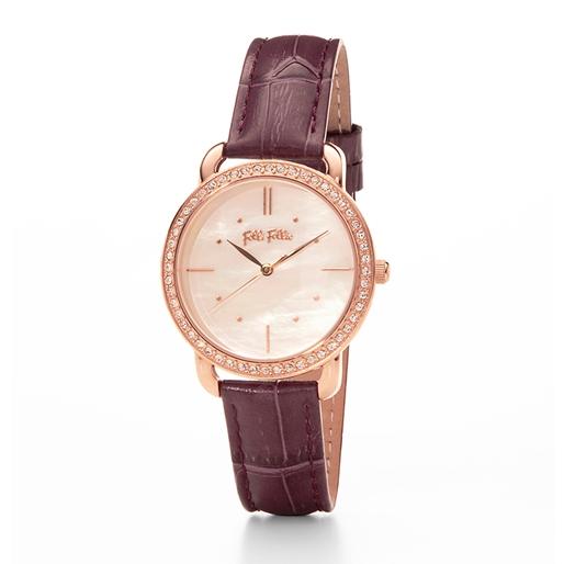 Daylight Medium Case Leather Watch-