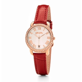 Perfect Match Small Case Leather Watch-