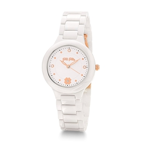 H4H Floral Small Case Ceramic Bracelet Watch-