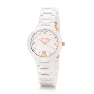H4H Floral Small Case Ceramic Bracelet Watch -