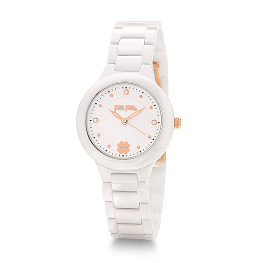 H4H Floral Small Case Ceramic Bracelet Watch-