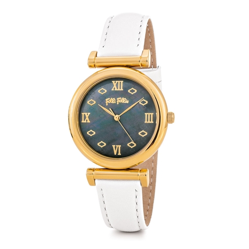 Mod Princess Big Case Leather Watch -