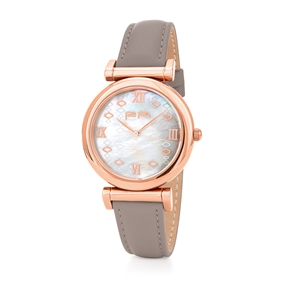 Mod Princess Big Case Leather Watch-