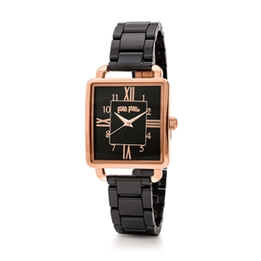 Retro Time Small Case Ceramic Watch-