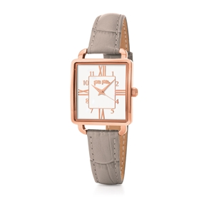 Retro Time Small Case Leather Watch-