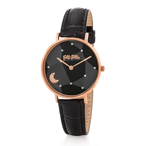 Stargaze Bright Medium Case Leather Watch-