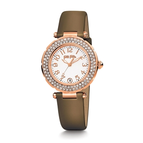 Beautime Round Case Leather Watch-