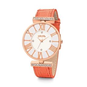 Dynasty Big Case Leather Watch-