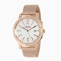 Drive Me stainless steel rose gold plated watch with mesh bracelet-