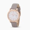 Drive Me stainless steel rose gold plated watch with leather strap
