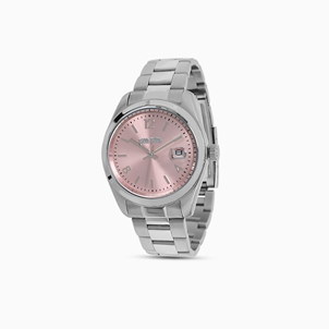 All Time small case stainless steel watch with bracelet-