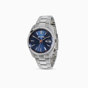 All Time big case stainless steel watch with bracelet-