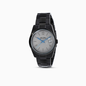 All Time small case stainless steel black plated watch with bracelet-